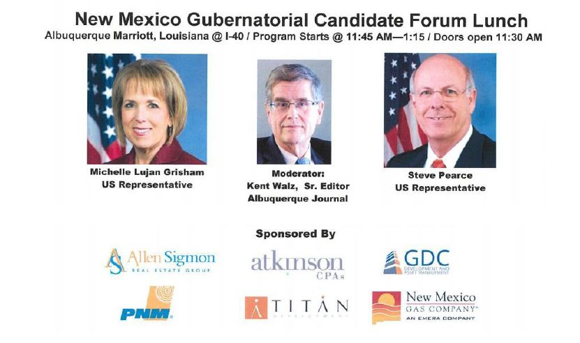 Allen Sigmon Sponsors New Mexico Gubernatorial Candidate Forum Lunch