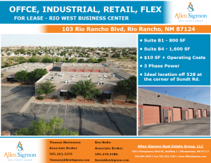 103 Rio Rancho - Business Park
